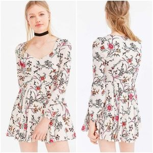 Ecote Urban Outfitters Floral Flowy Skater Dress